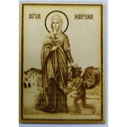 Αγία Μαρίνα ανάγλυφη εικόνα