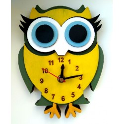 Ρολόι τοίχου κουκουβάγια 03
