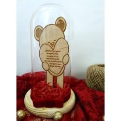 Γυάλα αρκουδάκι με καρδιά
