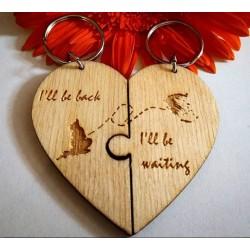 Σετ μπρελόκ καρδιά με χάρτες